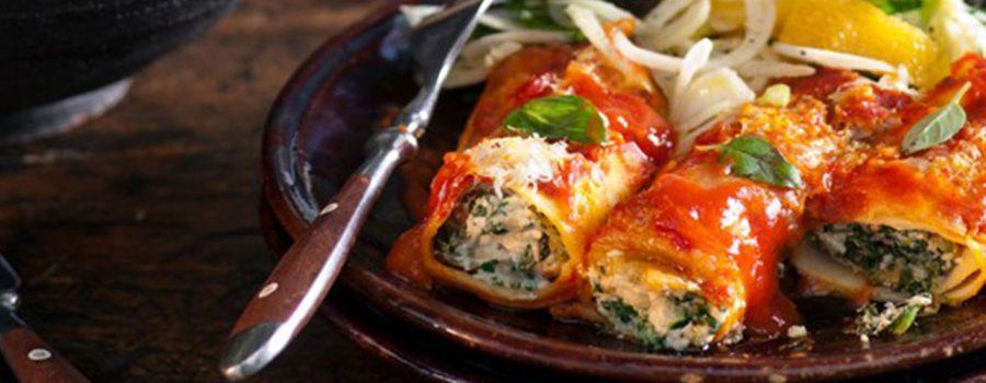 Spinach & Ricotta Canneloni